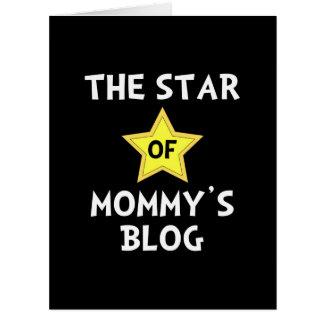 ¿Mamá? estrella del blog de s Tarjeta De Felicitación Grande