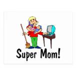 Mamá estupenda (4 brazos) postal