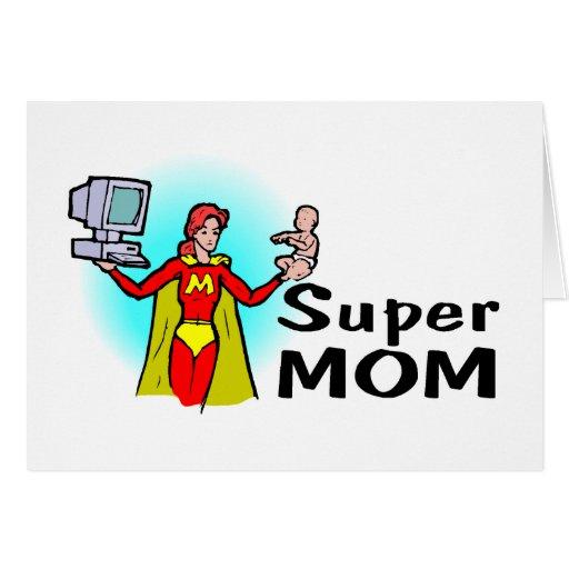 Mamá estupenda (corporativa) tarjeta de felicitación