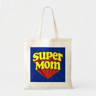 Mamá estupenda roja/amarillo/el día de madre azul bolsa tela barata