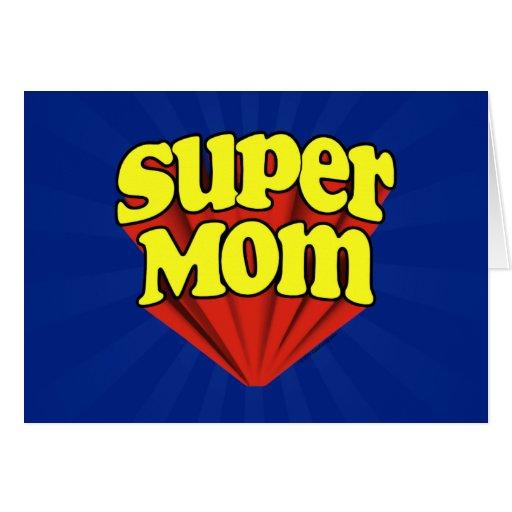 Mamá estupenda roja/amarillo/el día de madre azul  tarjetón