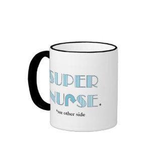 Mamá estupenda/taza estupenda de la enfermera taza de dos colores