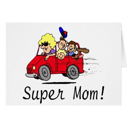 Mamá estupenda (Van/niños) Tarjeta De Felicitación