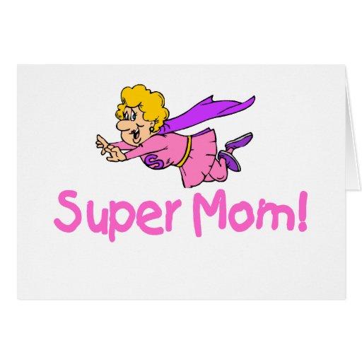 Mamá estupenda (vuelo) tarjeta de felicitación