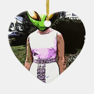 Mamá extranjera adorno de cerámica en forma de corazón