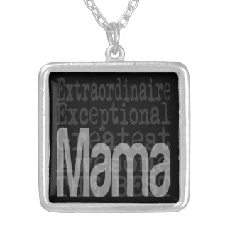 Mama Extraordinaire Square Pendant Necklace