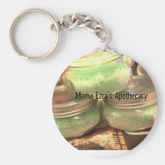 mama ezra, Mama Ezra's Apothecary Basic Round Button Keychain