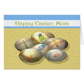 Mamá feliz de Pascua huevos de Pascua con los Tarjetas
