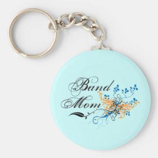 Mamá floral de la banda llaveros personalizados