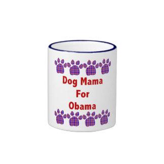 Mamá For Obama Mug del perro Taza De Dos Colores