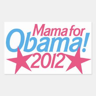 Mama for Obama` Rectangular Sticker