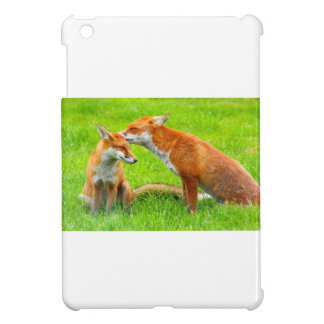 Mama Fox Cares For Her Baby iPad Mini Covers
