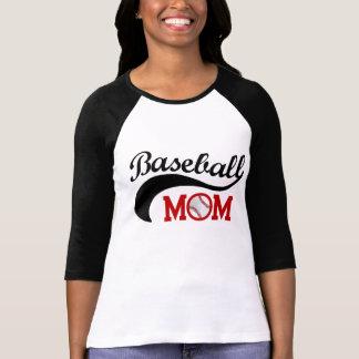 Mamá fresca del béisbol deportiva camiseta