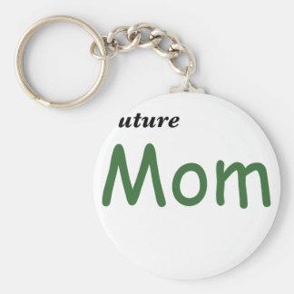 Mamá futura llavero redondo tipo pin