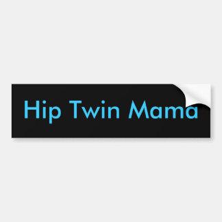 Mamá gemela de la cadera pegatina de parachoque