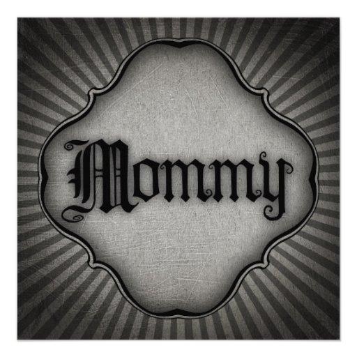 Mamá gótica del texto invitación personalizada