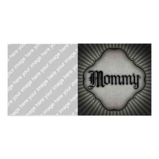 Mamá gótica del texto tarjeta fotográfica personalizada