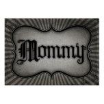 Mamá gótica del texto tarjetas de visita