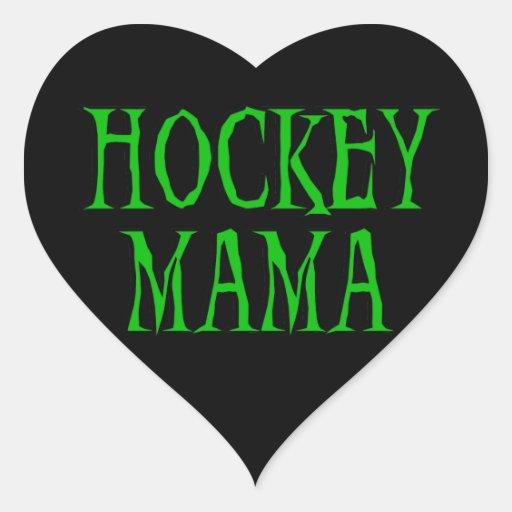 Mamá Green T-shirts y regalos del hockey Pegatina Corazon Personalizadas