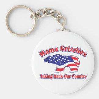 Mama Grizzlies Basic Round Button Keychain