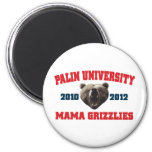 Mamá Grizzlies de la universidad de Palin Imán Para Frigorifico
