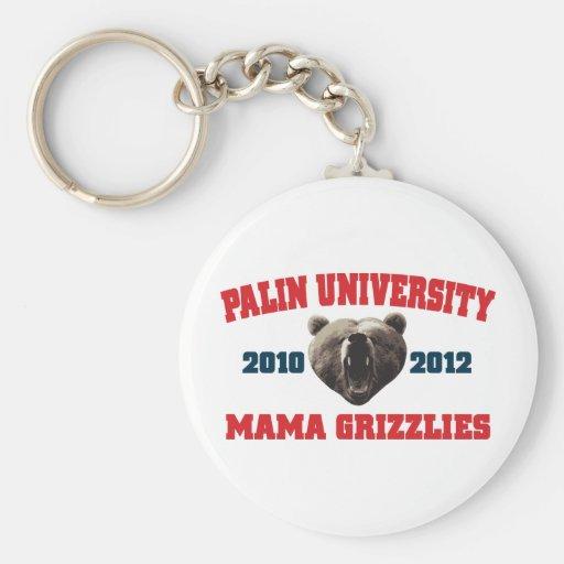 Mamá Grizzlies de la universidad de Palin Llaveros Personalizados
