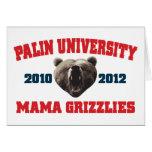 Mamá Grizzlies de la universidad de Palin Tarjeta De Felicitación