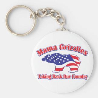 Mamá Grizzlies de Sarah Palin Llavero Redondo Tipo Pin