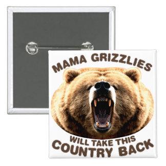 Mama Grizzlies Pinback Button