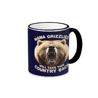 Mama Grizzlies Ringer Mug