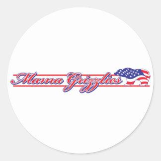 Mama Grizzlies - Sara Palins Tea Party Rant Classic Round Sticker