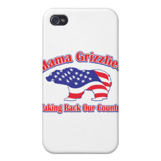 Mama Grizzlies Taking Back Our Country iPhone 4/4S Case