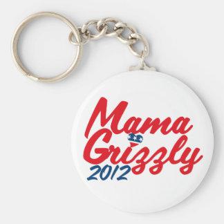 Mamá Grizzly 2012 Llavero Redondo Tipo Pin