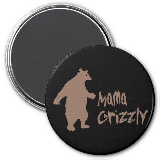 Mama Grizzly 3 Inch Round Magnet