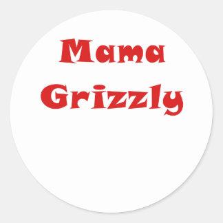 Mama Grizzly Classic Round Sticker