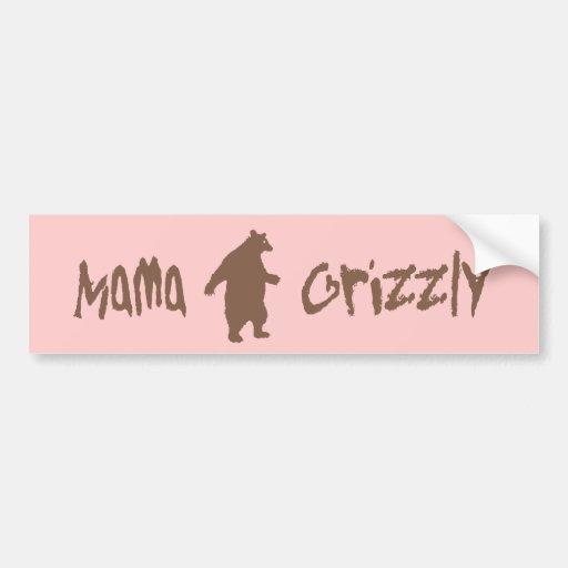 Mamá Grizzly Etiqueta De Parachoque