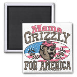 Mama Grizzly Gear for Patriotic Moms Fridge Magnet
