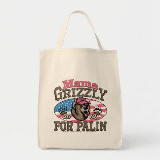 Mamá Grizzly Gear para las mamáes patrióticas Bolsa Tela Para La Compra