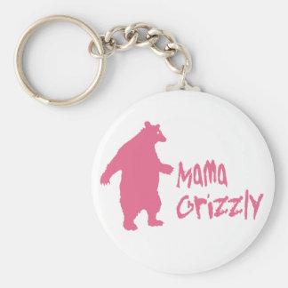 Mamá Grizzly Llavero Redondo Tipo Pin