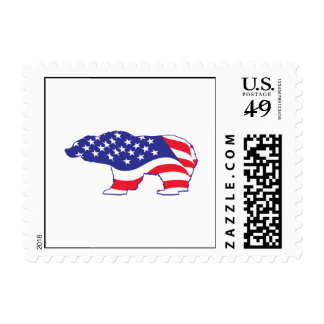 Mama Grizzly Patriotic Grizzly Postage