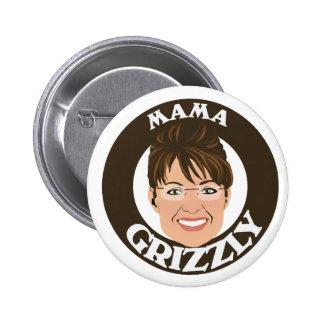 Mamá Grizzly Sarah Palin Pin Redondo De 2 Pulgadas