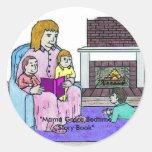 Mamá Groce Bedtime Storybook Etiquetas Redondas