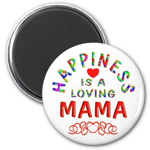 Mama Happiness 2 Inch Round Magnet