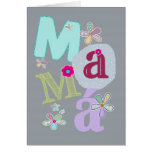 mamá, happy mother's day in Spanish Greeting Card