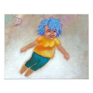 Mama Has a Dream fun colorful woman flying fun art Card