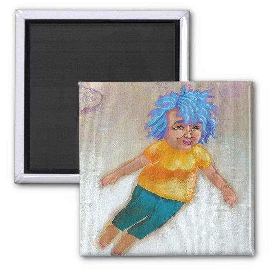 Mama Has a Dream fun colorful woman flying fun art Magnet