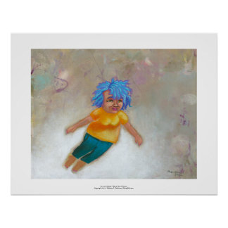Mama Has a Dream fun colorful woman flying fun art Posters