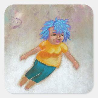 Mamá Has un arte colorido de la diversión del Pegatina Cuadradas