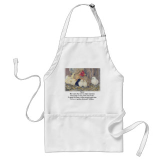 Mama Hen with Poem Apron