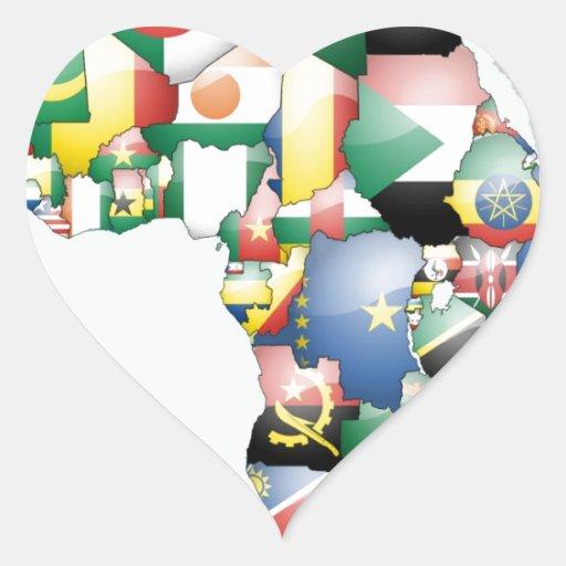 Mamá hermosa África del hola de Jambo Habari Pegatina De Corazon Personalizadas